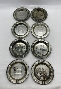 Lot-Of-8-Vintage-ASHTRAY-SALEM-CIGARETTES-Advertisement-Rusty-Tin-3-5