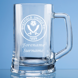 RéAliste Sheffield United F.c - Personalised Small Plain Straight Sided Tankard (crest) Soyez Amical Lors De L'Utilisation