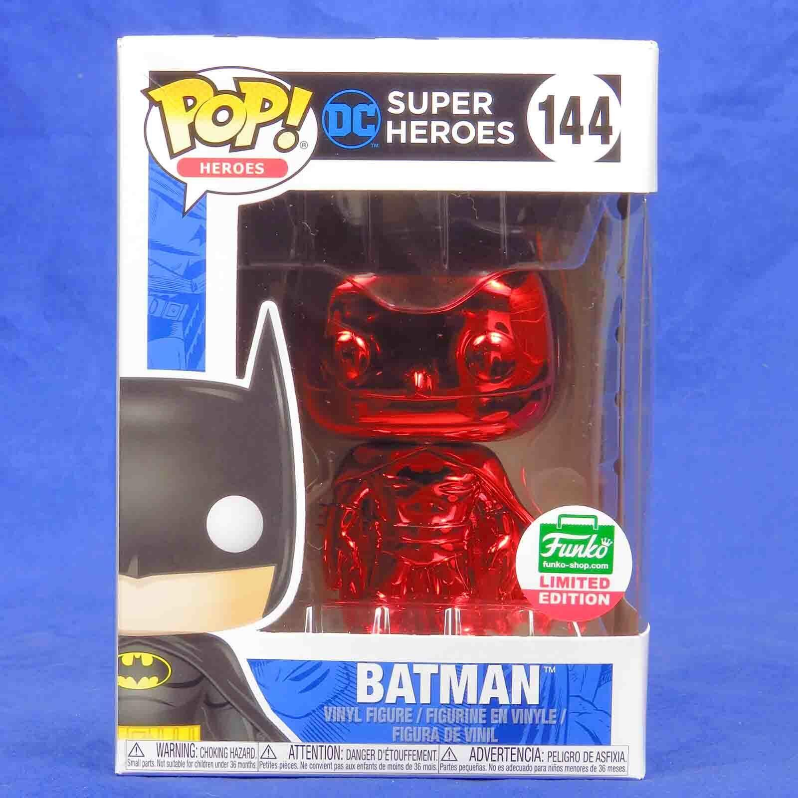 Funko Pop Vinilo figura Héroes DC súper Heroes  144 Batman Roja Cromo