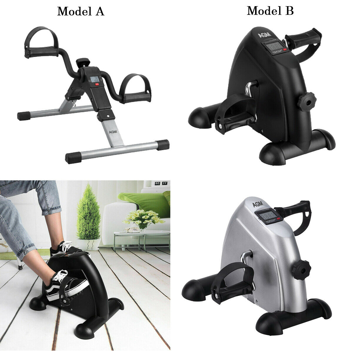 Digital Mini LCD Bike Resistance Cycle Pedal Exercise for Le