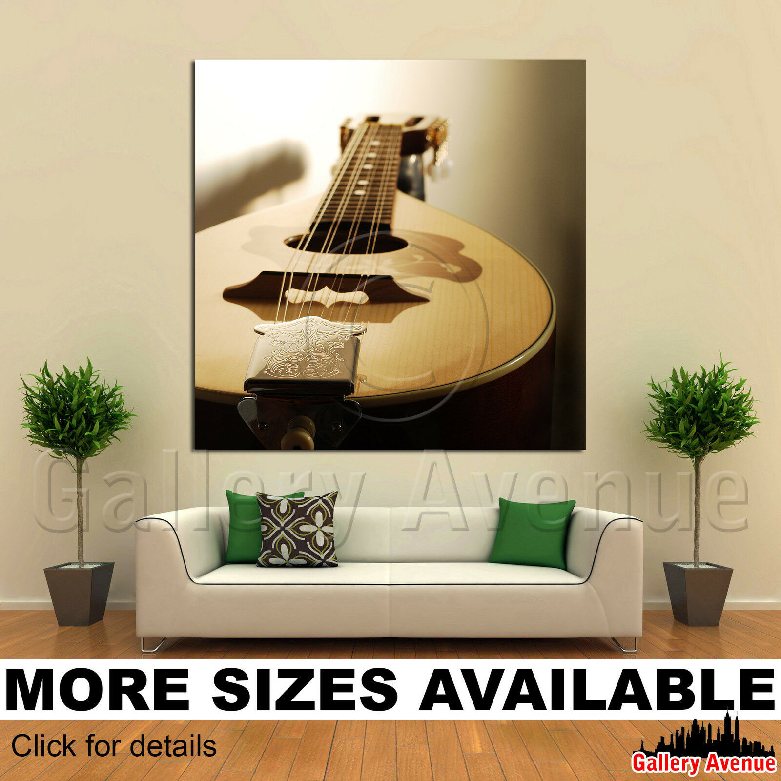 A Wall Art Canvas Picture Print - Mandolin Close-up 1.1