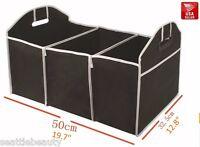 Car Boot Organiser / Trunk Storage Organizer Black Folding