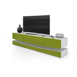 Details zu Mobile per TV modello New York, porta TV soggiorno altezza  regolabile a piacere