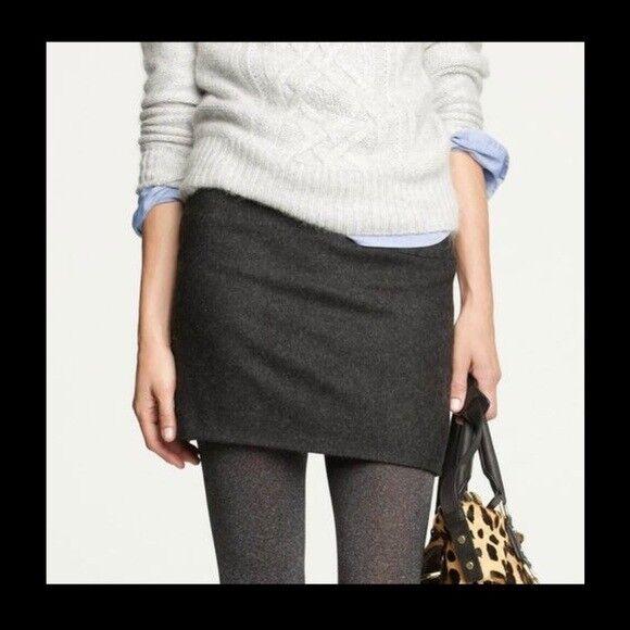 JOSEPH Charcoal Wool Mini Skirt Business Office  S SMALL