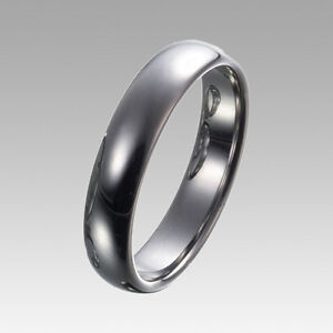 Men-039-s-5mm-Tungsten-Carbide-Band-Comfort-Fit-Ring-Polished-Finish