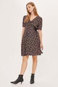 076e62ca3a06d BNWT Topshop Maternity Black Floral Ditsy Corset Side Midi Tea Dress ...