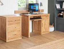 baumhaus mobel oak single pedestal computer desk solid oak pc workstation