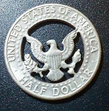 Kennedy Half Dollar Ball Marker Cut Coin