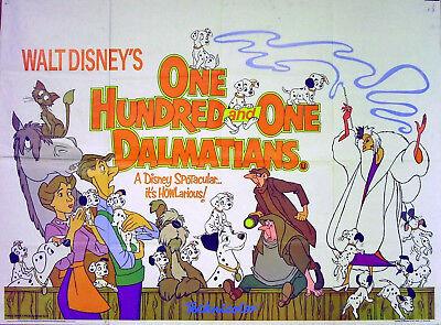 101 Dalmatians 1961 Walt Disney Clyde Geronimi Uk Quad Poster Ebay