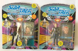 Star-Trek-VINTAGE-The-Next-Generation-Commander-Riker-and-Commander-Sela-1993