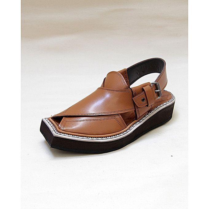 Original KAPTAAN Pathani Peshawari Chappal, Chappal, Chappal, Double soled, sandals Mustard Brown 743dce
