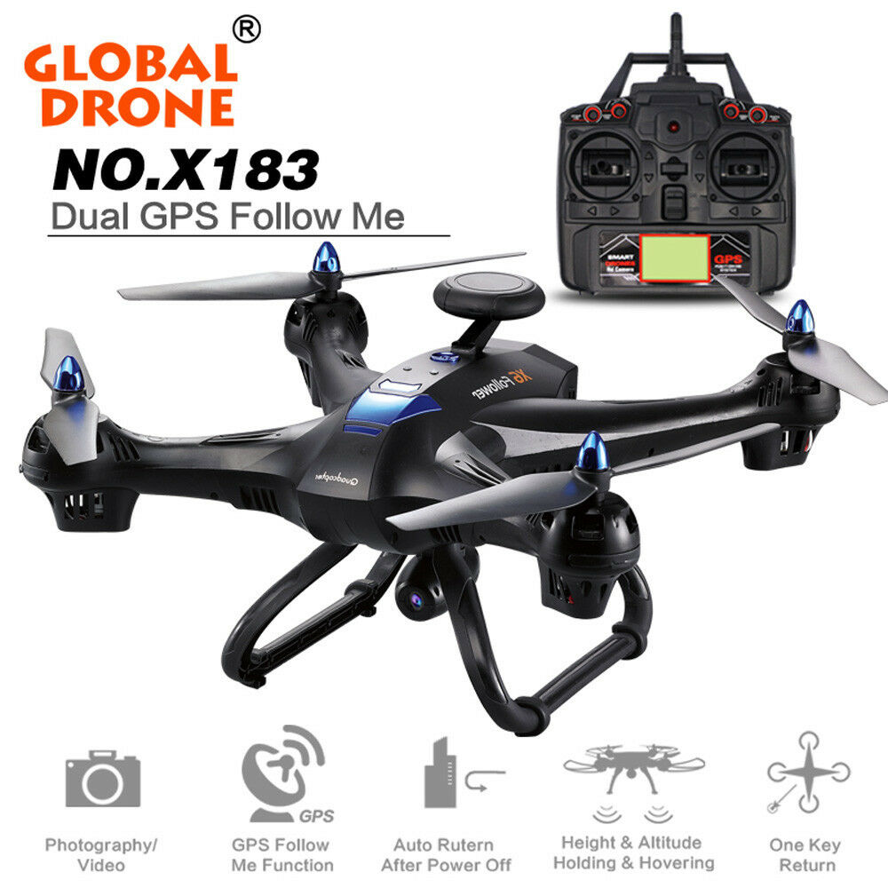 Global Drone X183 con 5GHz WIFI FPV 1080P telecamera Dual GPS QUADCOPTER BRUSHLESS