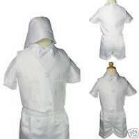 Baby Boy & Toddler Christening Baptism Formal Outfit Gown Suit Smlxl (0-30m)
