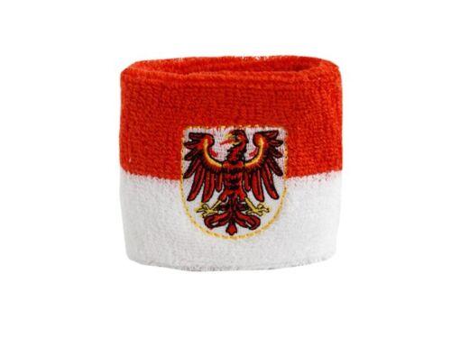 Sudore Banda Bandiera Bandiera Germania Brandeburgo 7x8cm Bracciale per lo sport