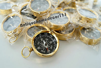 Antiques Rapture Lot Of 10 Pcs Nautical Brass Handmade Functional Compass Marine Decor Best Gift Can Be Repeatedly Remolded.