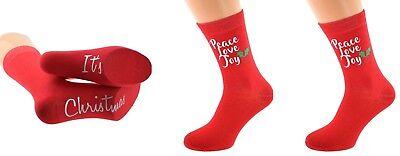 Calze Unisex Natale In Rosso Per Uomo O Donna Regali Di Natale X6n703/5-mostra Il Titolo Originale