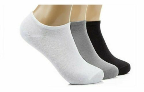 UK 6-11 Trainer Liner Ankle Socks Shoe Mens Womens Cotton Rich Gym Sport Sock