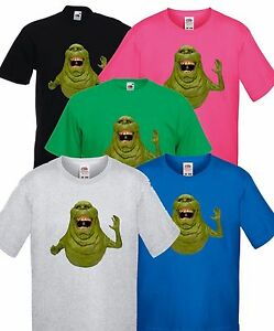 Courageux Ghostbusters Bouffe-tout, T Shirt Enfants Taille De Film Logo-afficher Le Titre D'origine Garantie 100%