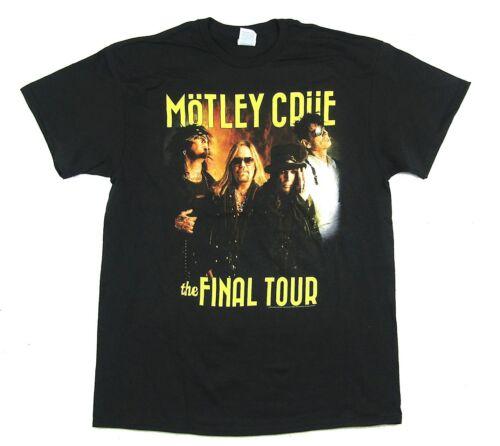 Motley Crue Final Tour Photo Band Image Black T Shirt New Official Merch