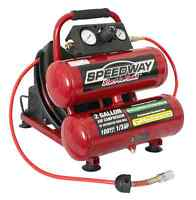 Speedway 2 Gallon Twin Air Compressor - Includes 25' Air Hose With Reel - 52024 on sale