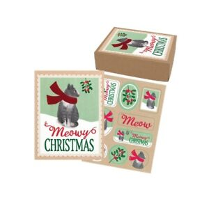 The Gift Wrap Company - 15 Ct Meowy Greetings Boxed Holiday Cards ...