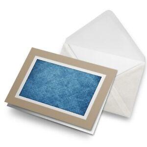 Greetings-Card-Biege-Blue-Denim-Texture-Cool-Art-3672