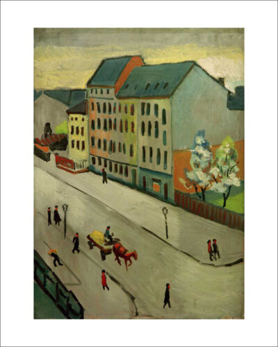 Macke Our Street in Grey fine art giclee print poster various sizes