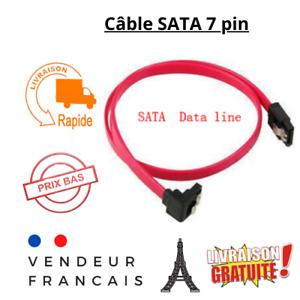 Câble Sata  26AWG III 38cm Verrouillable rouge Pour Disque Dur CD-ROM, CDRW, DVD
