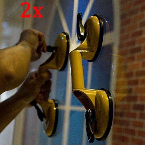 2 Pcs Double ventouse de manutention 100kg pour Vitre Tôle Fenêtre Meuble