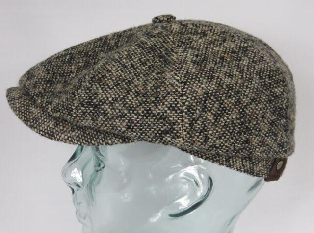 Stetson Hatteras Donegal Flatcap gorra tapa deslizante de invierno sombrero  58 d37cd9e6872f