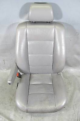 BMW E32 7-Series Early Left Front Drivers Factory Comfort Seat Silver Leather