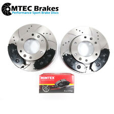 For Hyundai i800 2.5 CRDi 6//08-/> 300MM Drilled /& Grooved Sport FRONT Brake Discs