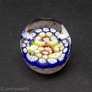 FINE-Vtg-MURANO-MiLLEFIORi-Art-GLaSs-FRATElli-TOSO-Paperweight-Small-FACETS