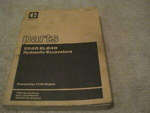 Caterpillar-E240-EL240-Excavator-Parts-Manual-RARE-CAT-Parts-Manual-XEBP9836