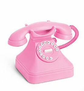 New-AMERICAN-GIRL-DOLL-039-S-Pink-Play-Phone-Rings-Bedroom-Accessory-McKenna-No-Box