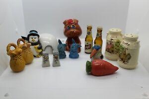 Vintage-Salt-And-Pepper-Shakers-Lot