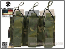 EMERSON 5.56 Pistol Triple Open Top Magazine Pouch (Multicam Tropic) EM6363MCTP