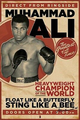 MUHAMMAD ALI ~ DIRECT FROM RINGSIDE 24x36 POSTER Boxing Heavyweight Champion
