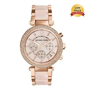 NEW-GENUINE-MICHAEL-KORS-MK5896-ROSE-GOLD-PARKER-CHRONOGRAPH-LADIES-WATCH