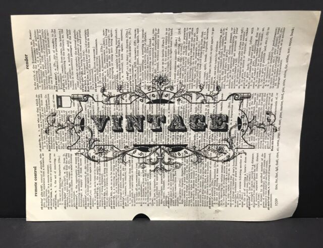 Vintage Sign Dictionary Page Print Picture Wall Art Gift Reclaimed ...
