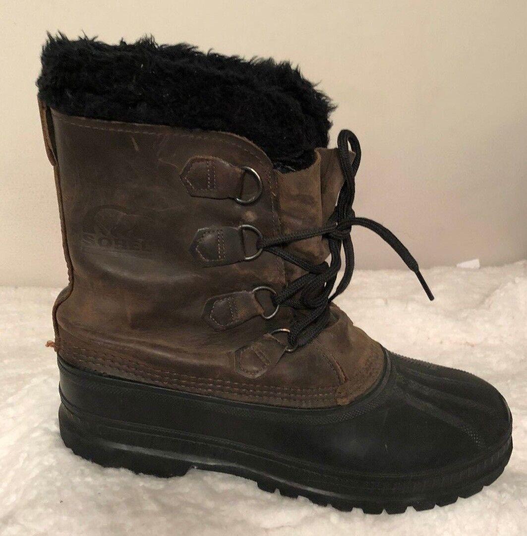 Sorel Men Steel Shank Stiefel Leather Insulated Water Proof braun Winter  Größe 11