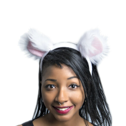 Furry Costume White Round Bear lion 3013 CLAWH PAWSTAR Mouse Ears Headband