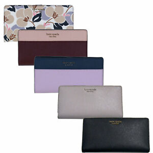 Kate-Spade-New-York-Wallet-Large-Slim-Bifold-Cameron-Leather-Coin-Purse-Ksny-New
