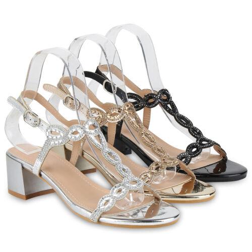 Damen Abiball Sandaletten Metallic Abendschuhe Party Hochzeit 826236 Schuhe