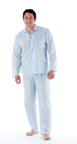 Da Uomo Tinta Unita Tradizionale Classico Pigiama Set a pelo Nightwear Pjs M-2XL
