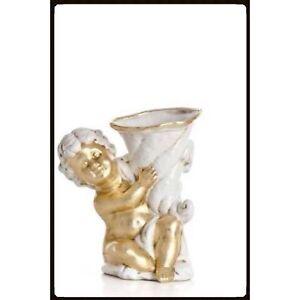 Keramik-Engelfigur-gross-Angel-Verziert-mit-Blattgold-Handarbeit-aus-Italien