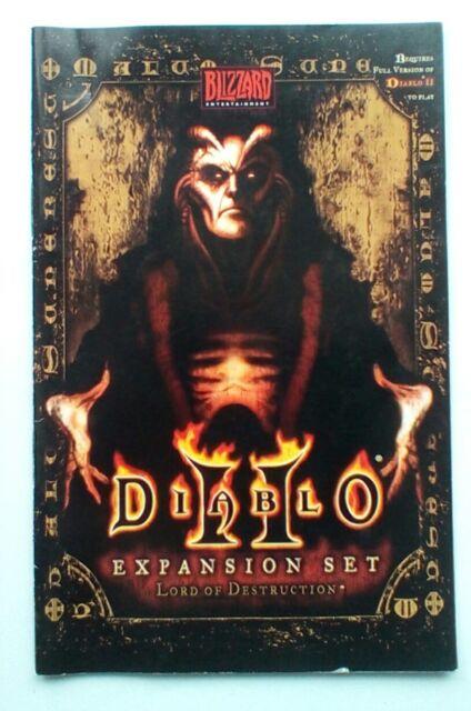 ** ** solo instrucciones Diablo II 2 señor de la destrucción manual de instrucciones para PC