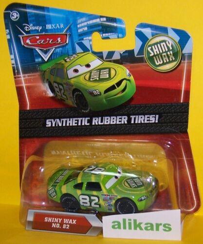 O SHINY WAX #82 Rubber Tires Mattel Disney Pixar Cars 1:55 Diecast Vehicle