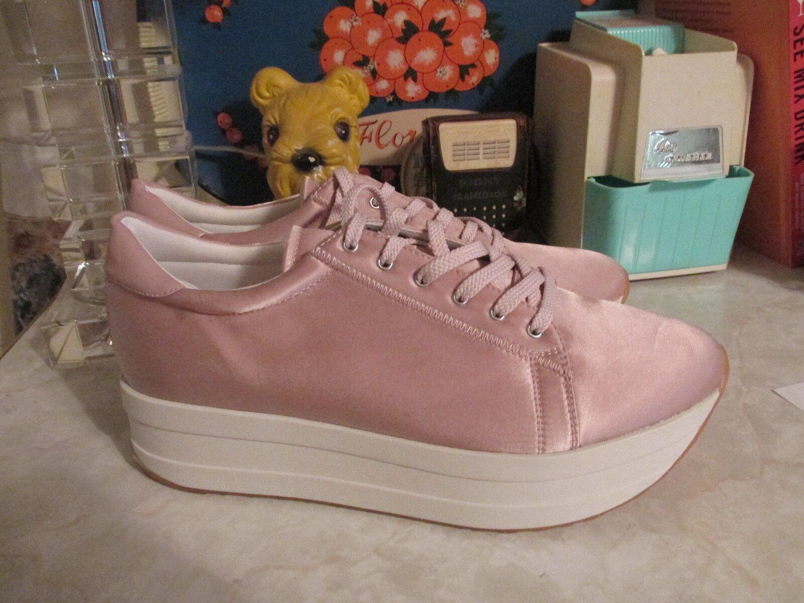 Moda para mujer Vagabond Casey rosado Plataforma Cuña Zapatillas De De De Satén Brillante US 10 EU40  barato y de moda