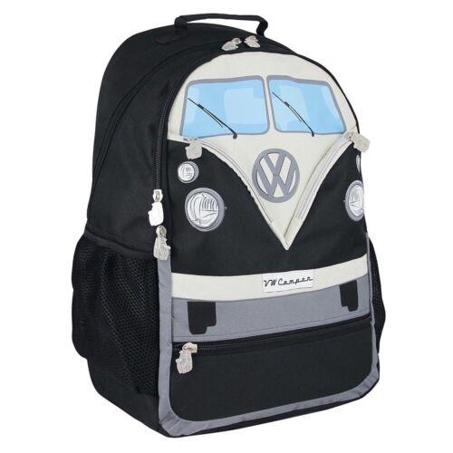 Black Official VW T1 Camper Van Large Rucksack Backpack Bag